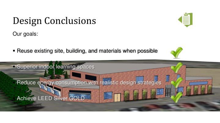 Design Conclusions