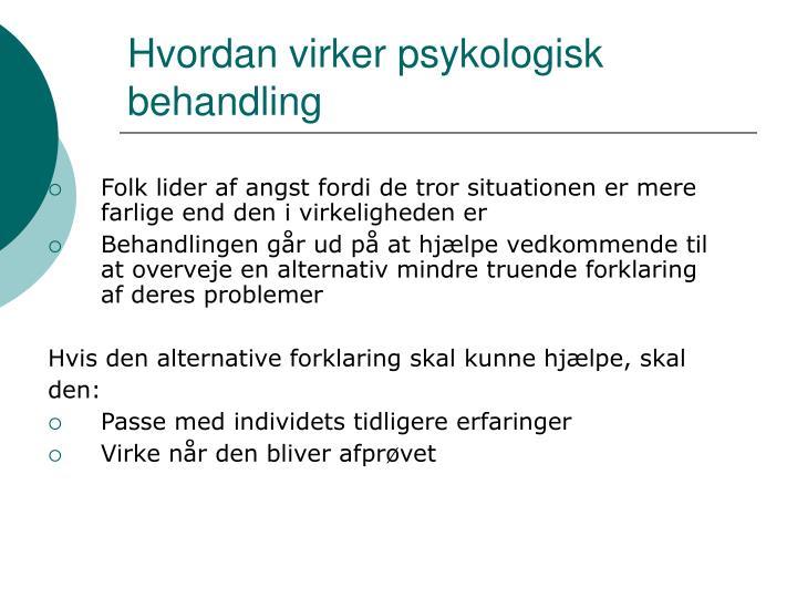 Hvordan virker psykologisk behandling
