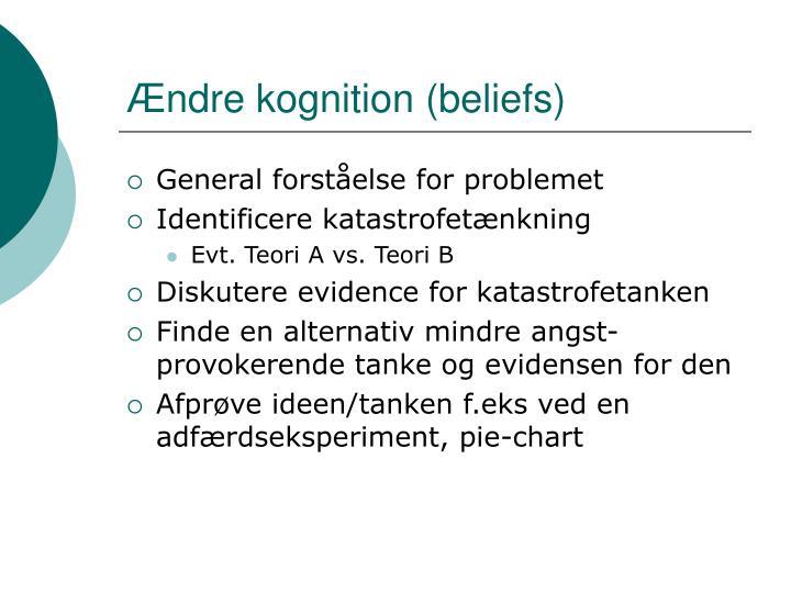 Ændre kognition (beliefs)