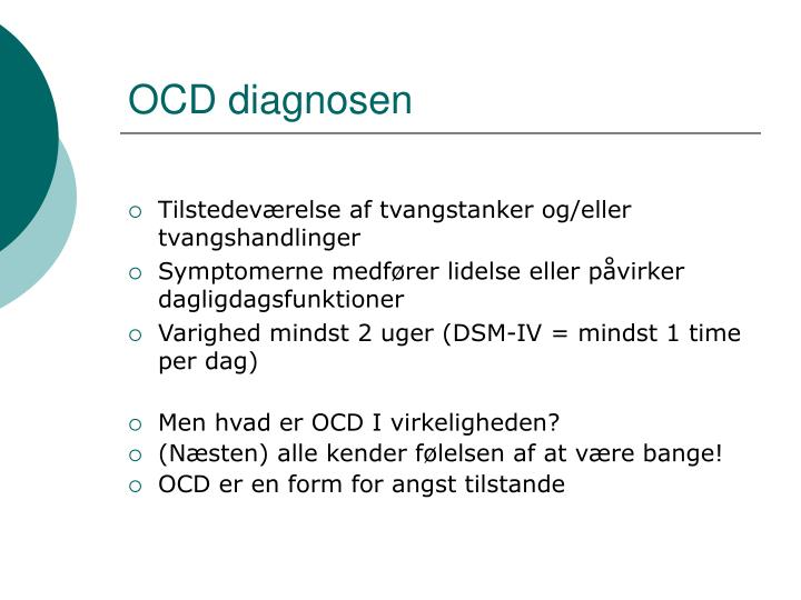 OCD diagnosen