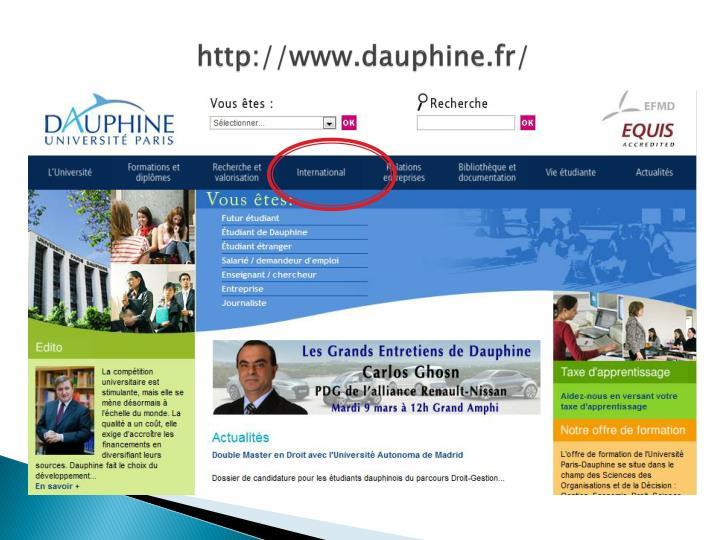 http://www.dauphine.fr/