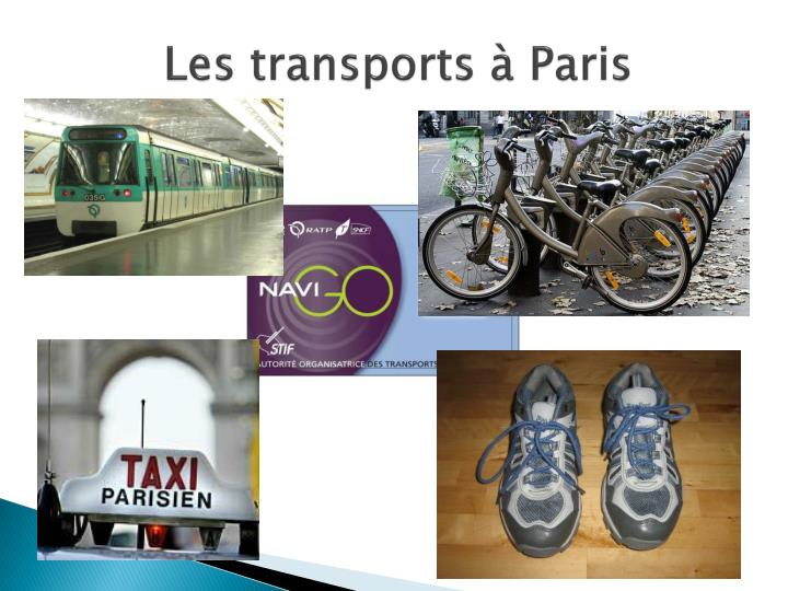 Les transports à Paris