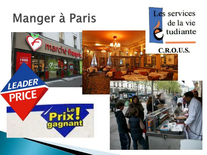 Manger à Paris