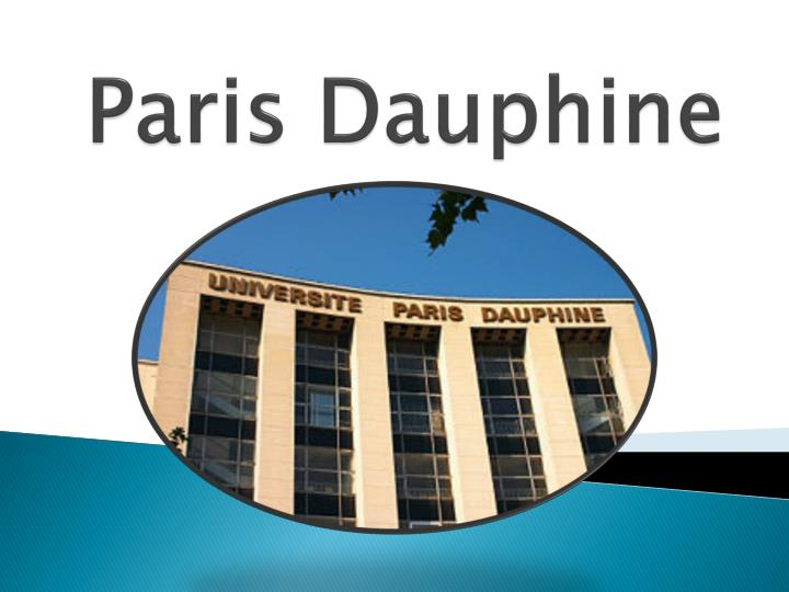 Paris dauphine