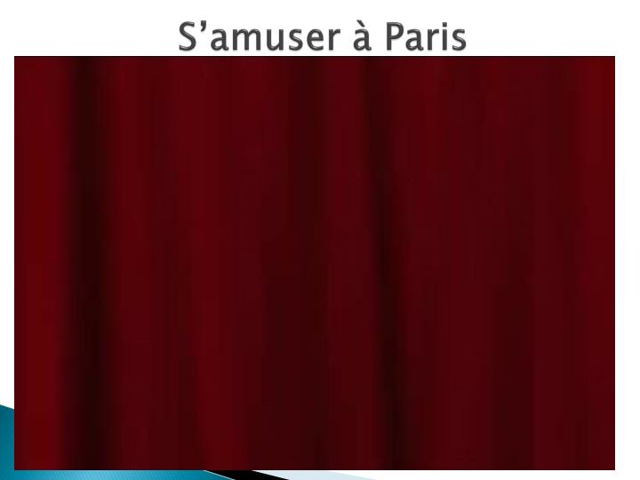 S'amuser à Paris