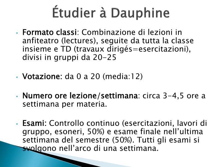 Étudier à Dauphine