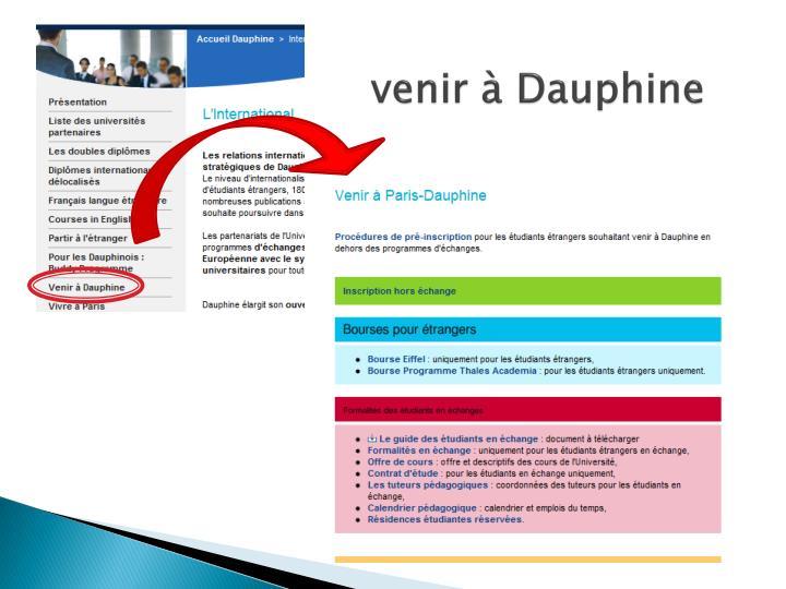 venir à Dauphine