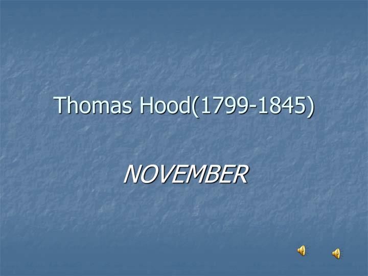 Thomas Hood(1799-1845)