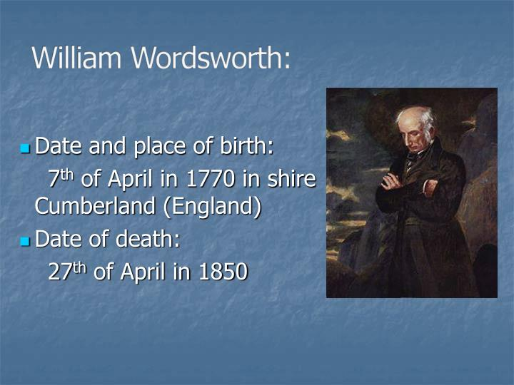 William wordsworth1