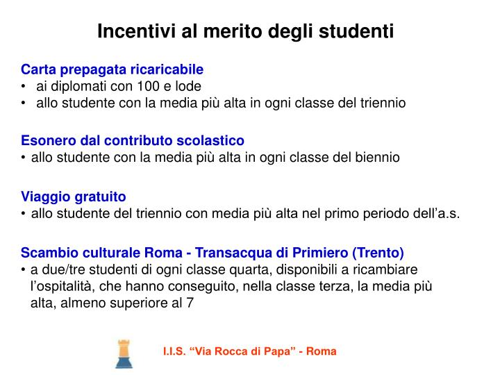 Incentivi al merito degli studenti