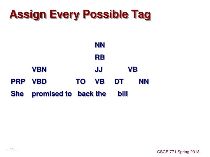 Assign Every Possible Tag