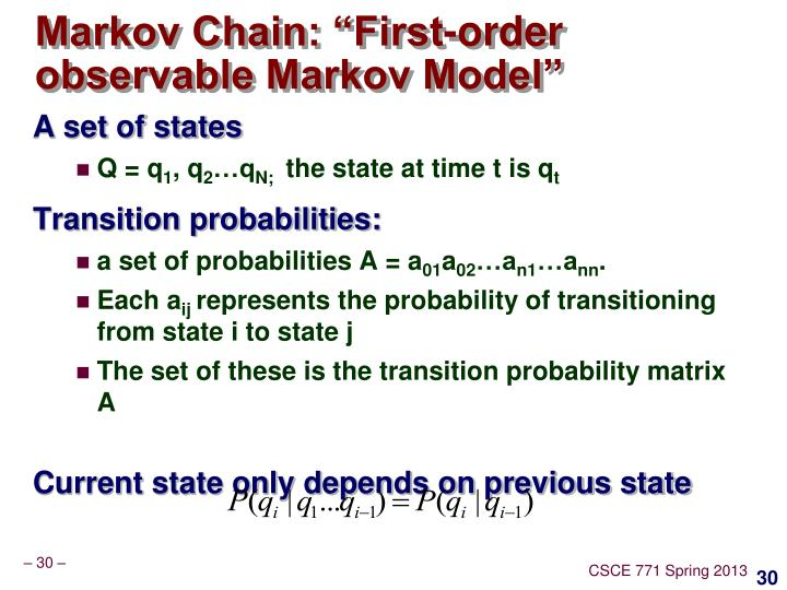 "Markov Chain: ""First-order observable Markov Model"""