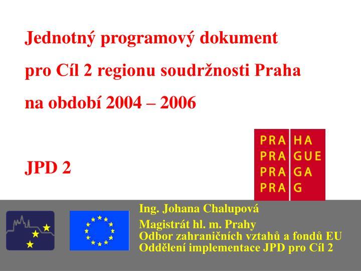 Jednotný programový dokument