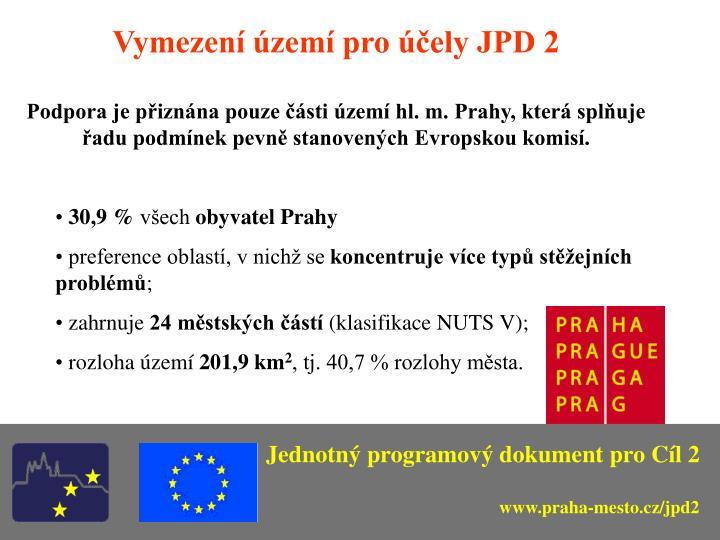 Vymezení území pro účely JPD 2