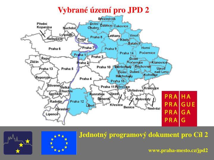 Vybrané území pro JPD 2