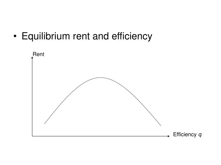Equilibrium rent and efficiency