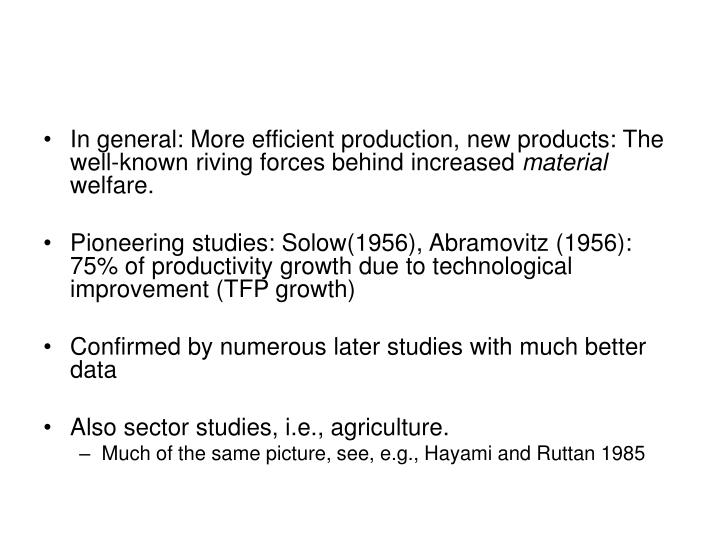 In general: More efficient production, new products: The well-known riving forces behind increased