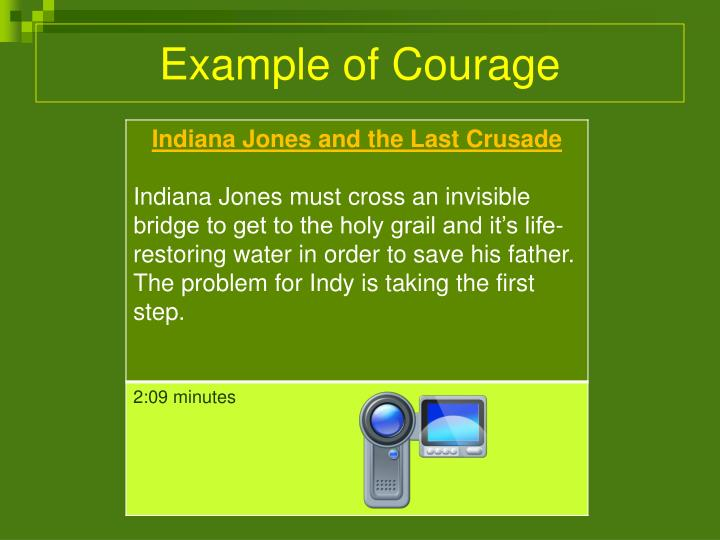 Example of Courage