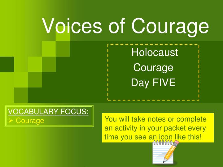 Voices of courage
