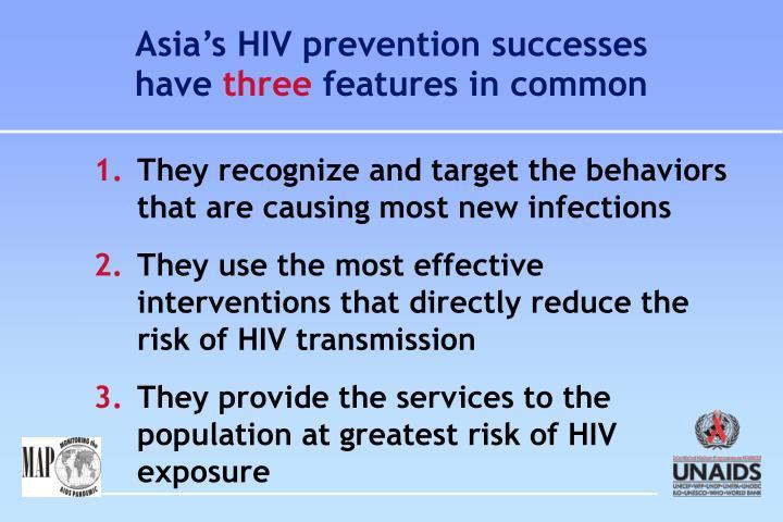 Asia's HIV prevention successes