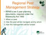 regional pest management strategy