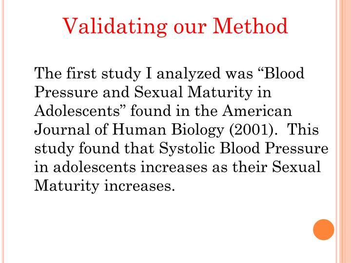 Validating our Method