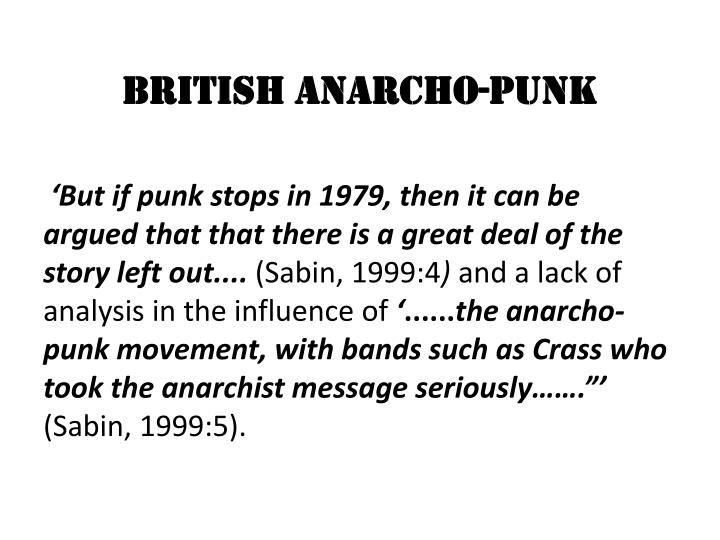 British anarcho punk