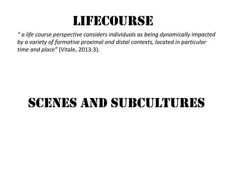Lifecourse