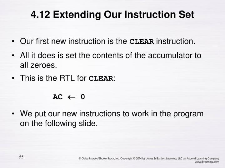4.12 Extending Our Instruction Set