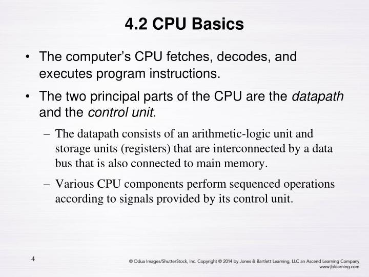 4.2 CPU Basics