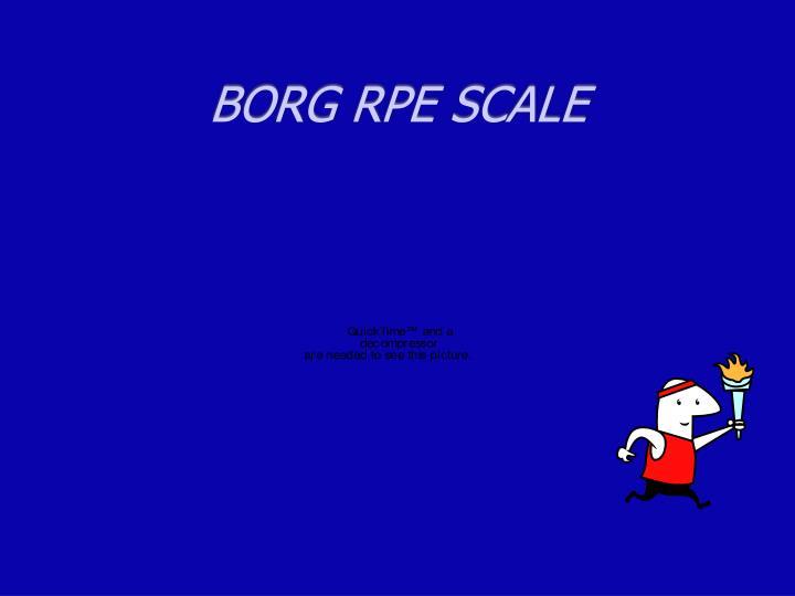 BORG RPE SCALE