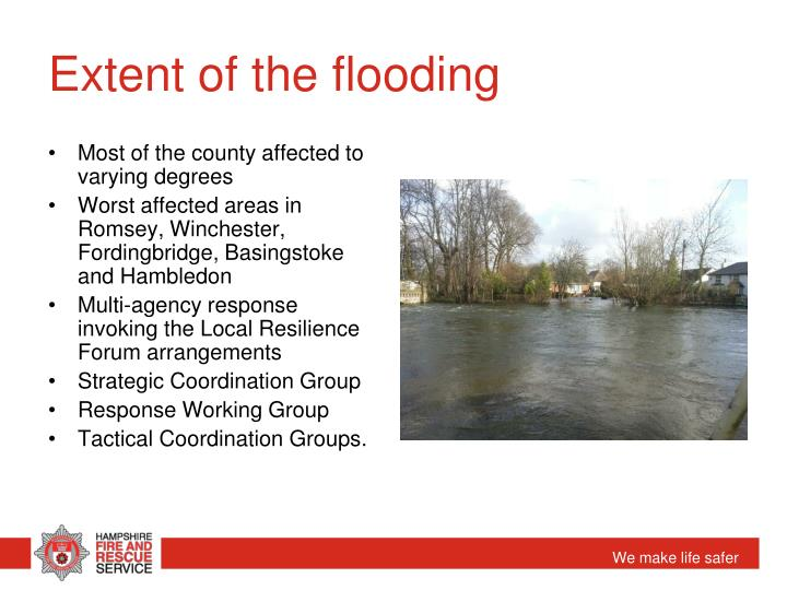Extent of the flooding