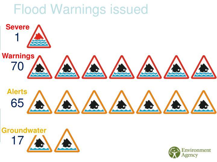 Flood Warnings issued
