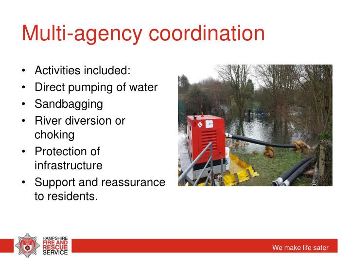 Multi-agency coordination