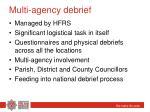 multi agency debrief