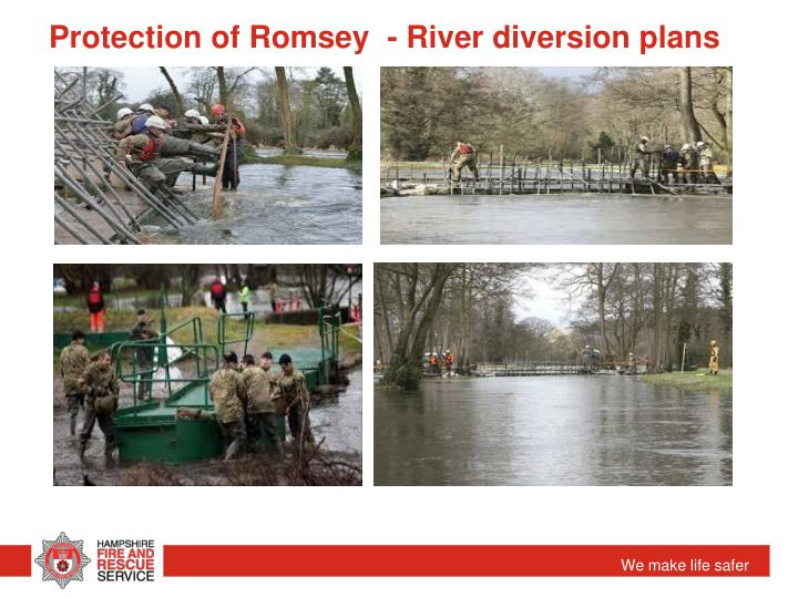 Protection of Romsey  - River diversion plans