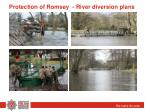 protection of romsey river diversion plans