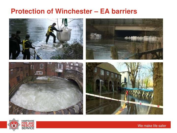 Protection of Winchester – EA barriers