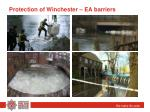 protection of winchester ea barriers
