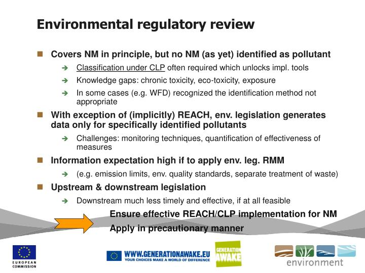 Environmental regulatory review