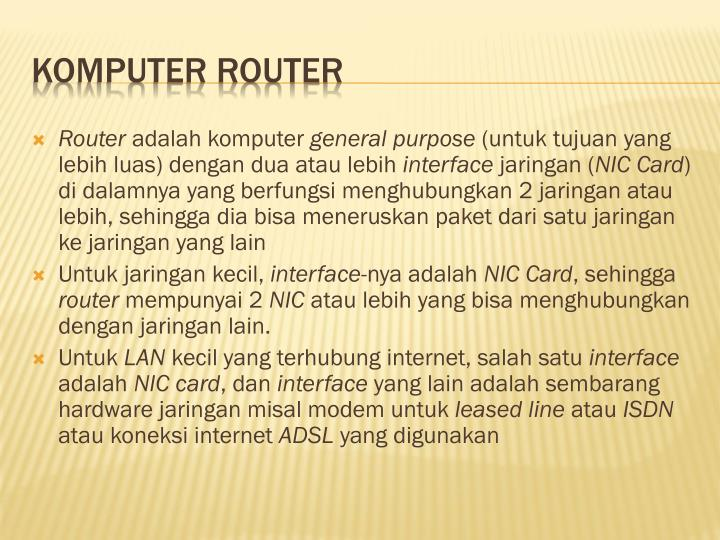Komputer Router