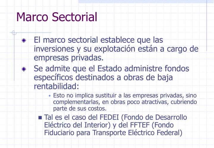 Marco Sectorial