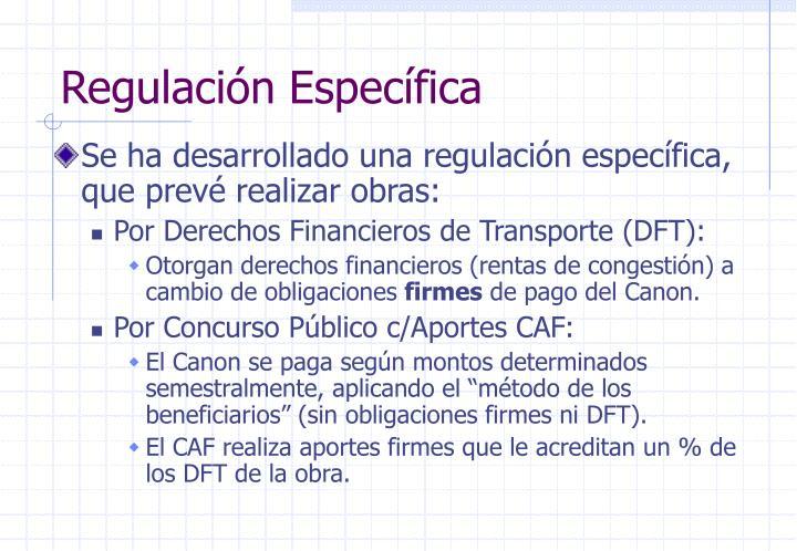 Regulación Específica