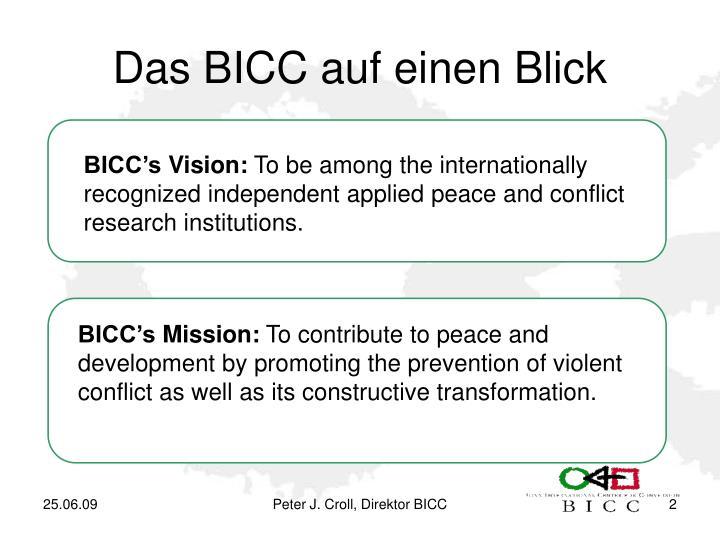 Das BICC auf einen Blick
