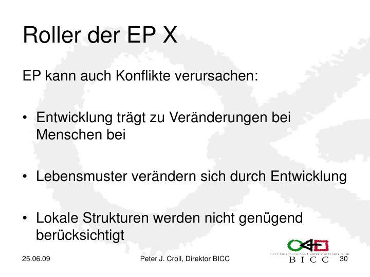 Roller der EP X