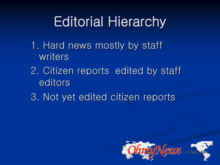 Editorial Hierarchy