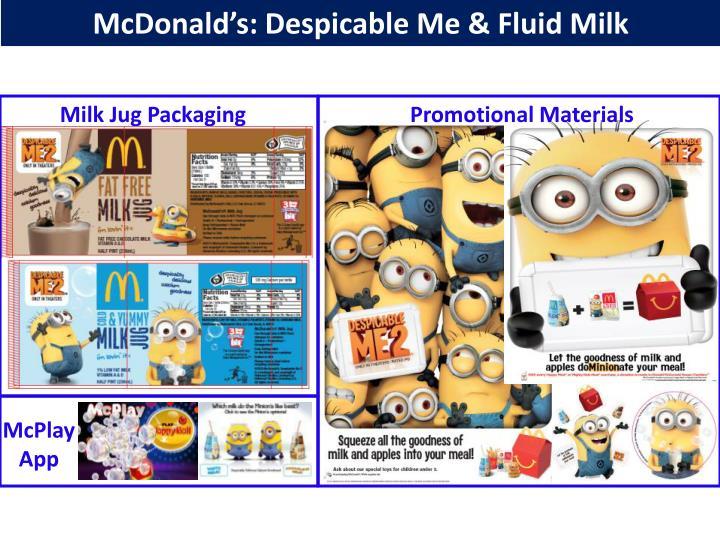 McDonald's: Despicable Me & Fluid Milk
