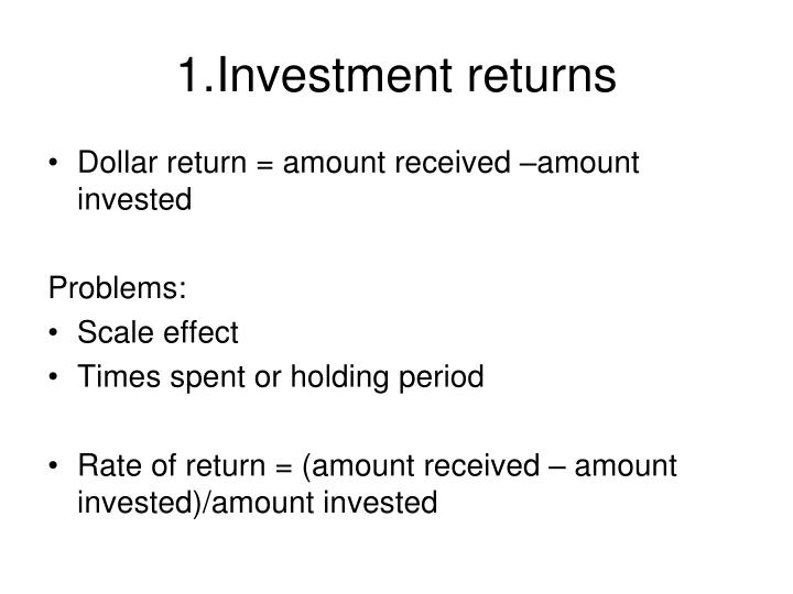 1 investment returns