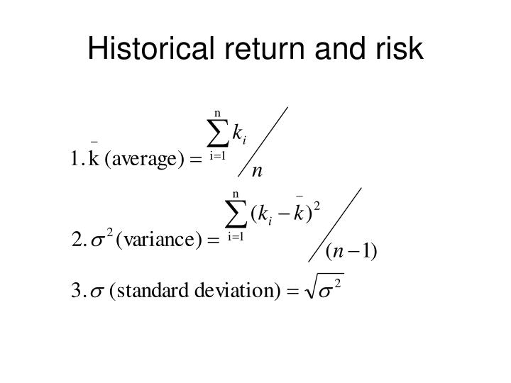 Historical return and risk
