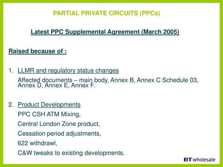PARTIAL PRIVATE CIRCUITS (PPCs)